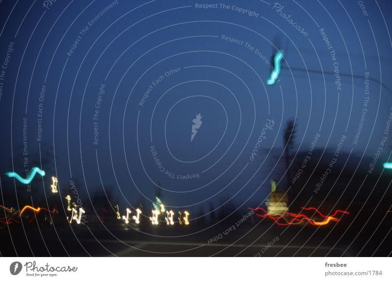 Blue City Street Movement Traffic light Mixture