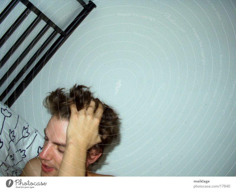 Man Bed Fatigue Arise Headache