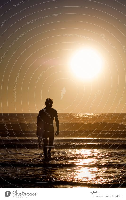 Human being Youth (Young adults) Water Beautiful Beach Ocean Sports Movement Adults Waves Contentment Glittering Masculine Thin Athletic Surfing