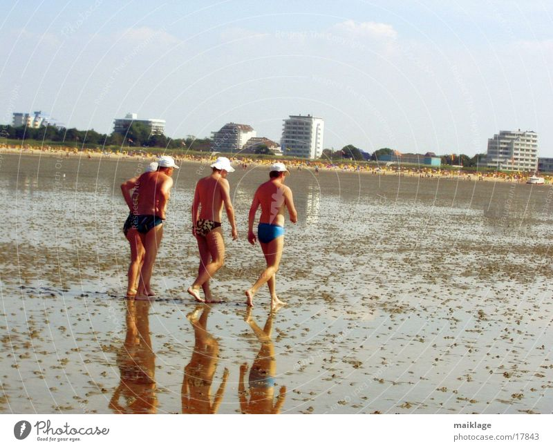 grand paradiso Walk along the tideland Vacation & Travel Family & Relations Beach Hotel Europe sunny day Sunhat