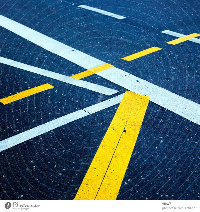 Yellow Street Lanes & trails Stone Line Signs and labeling Concrete Arrangement Design Transport Perspective Stripe Authentic Construction site Communicate