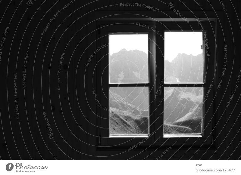 longing ... [ E5 ] Black & white photo Interior shot Copy Space left Evening Silhouette Harmonious Contentment Relaxation Calm Vacation & Travel Tourism Trip