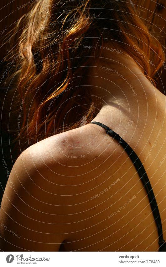 es wird Herbst Colour photo Interior shot Morning Light Hair and hairstyles Skin Harmonious Senses Meditation Massage Feminine Woman Adults Head Back 1