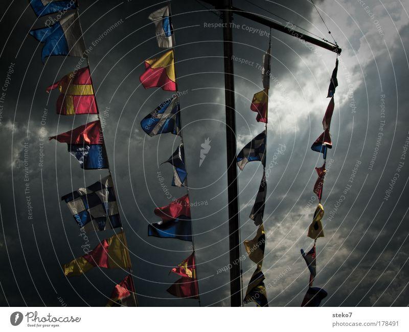 Clouds Wind Flag Threat Gale Navigation Shaft of light Müritz
