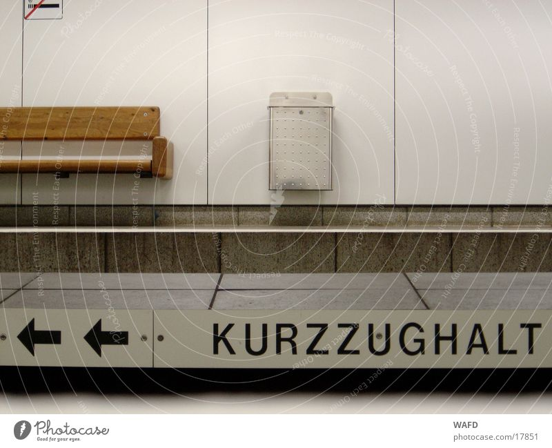 Transport Railroad Bench Arrow Tunnel Underground Trash container Subsoil Pictogram