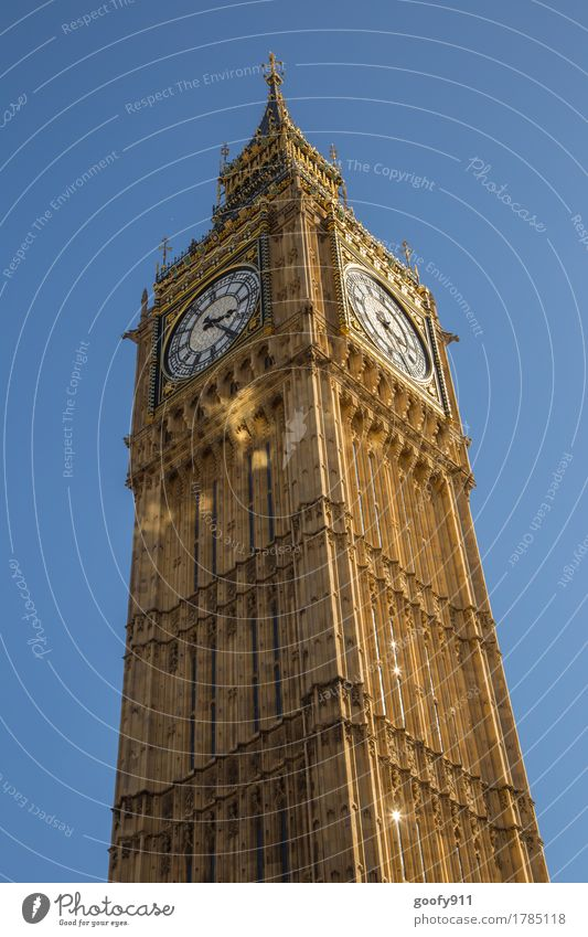 Big Ben Elegant Tourism Far-off places Sightseeing City trip London England Europe Town Capital city Downtown Skyline Dome Tower Manmade structures Building