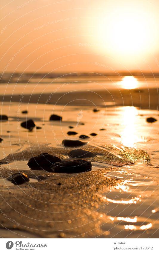 Sky Nature Water Beautiful Ocean Beach Calm Sunrise Far-off places Landscape Sunset Warmth Sand Stone Air Dream