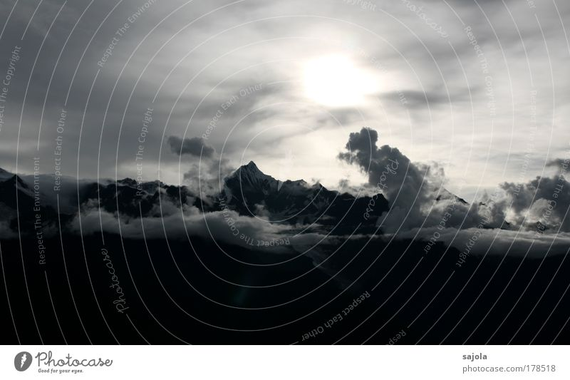 Nature Sky Sun Clouds Mountain Landscape Weather Environment Tall Esthetic Tourism Asia Infinity China Peak Respect