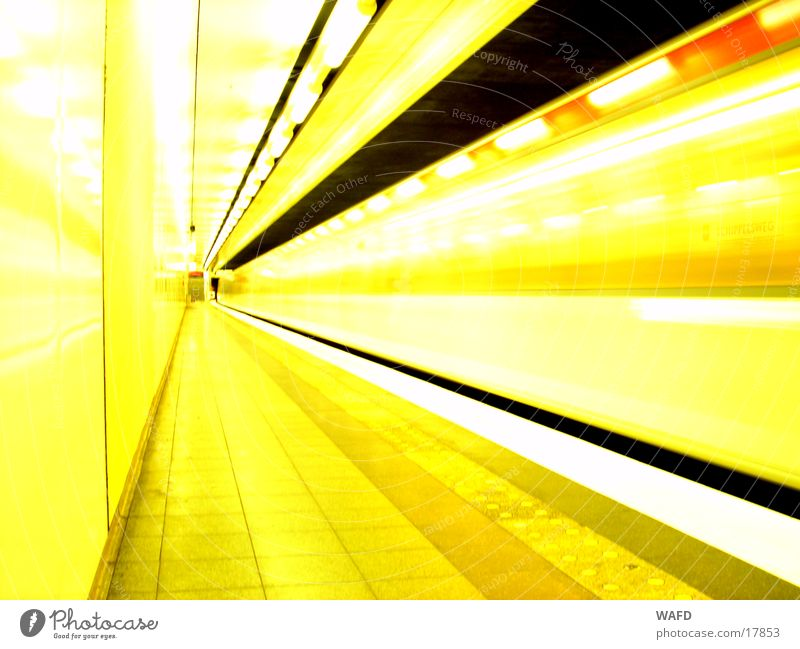 DayTrain Underground Railroad Tunnel Speed Light Station Platform Subsoil Transport
