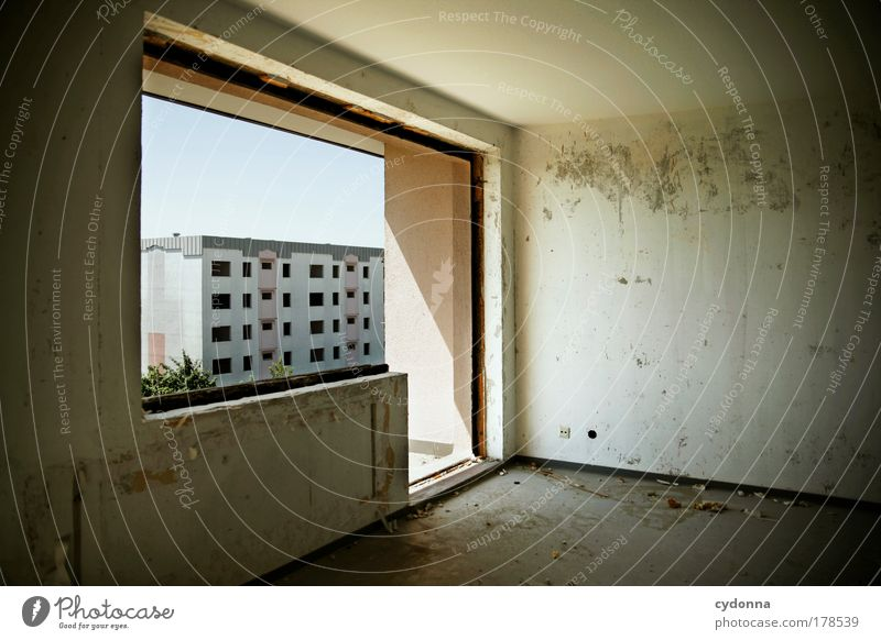 Calm Loneliness Life Wall (building) Death Window Sadness Wall (barrier) Architecture Flat (apartment) End Change Living or residing Transience Uniqueness