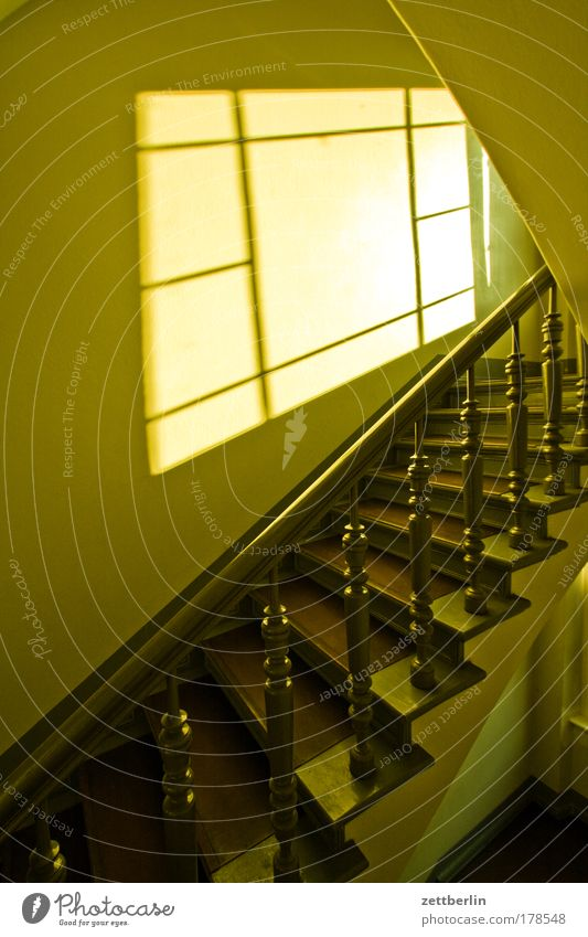 stairwell Stairs Banister Wood turning work Turn on the lathe Landing Career Resume Go up Descent Climbing Upward Downward Staircase (Hallway) Level