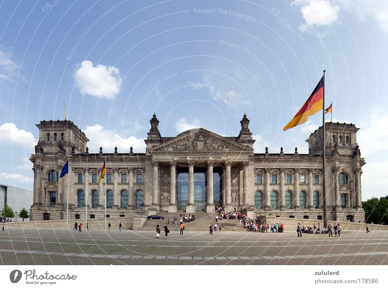 reichstag 1 Colour photo Exterior shot Day Central perspective Panorama (View) Wide angle Sightseeing Reichstag Historic Politics and state Architecture Berlin
