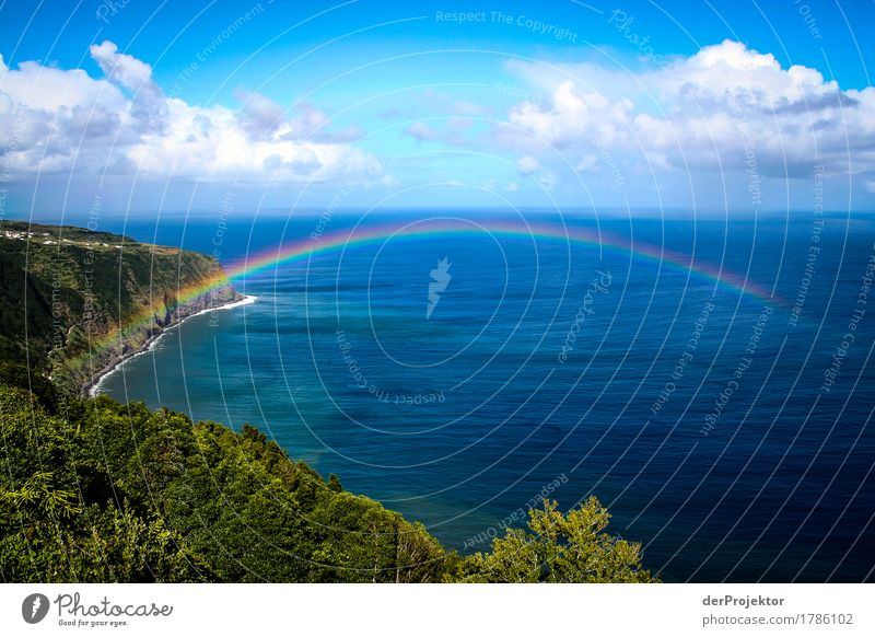 Rainbow bridge in the Azores Vacation & Travel Tourism Trip Adventure Far-off places Freedom Sightseeing Mountain Hiking Environment Nature Landscape Plant