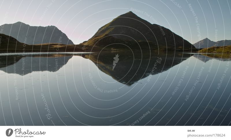 Nature Summer Vacation & Travel Calm Loneliness Mountain Lake Romance Alps Longing Peak Wanderlust Cloudless sky