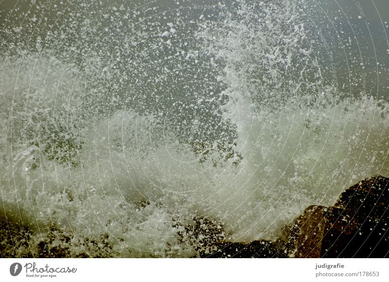 sprayed Colour photo Exterior shot Day Environment Nature Water Storm Gale Waves Coast Beach Baltic Sea Ocean Threat Dark Fresh Wild Power Cold Transience