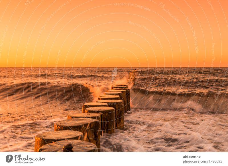 Beautiful Water Landscape Calm Love Horizon Contentment Waves Warm-heartedness Beautiful weather Romance Longing Baltic Sea Serene Wanderlust Cloudless sky