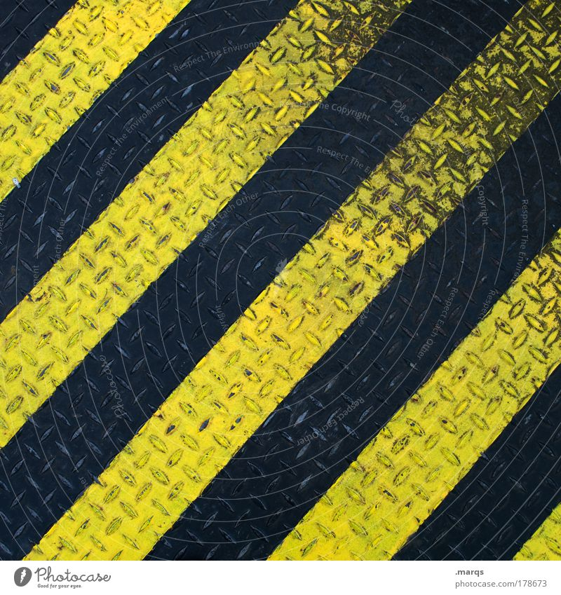black yellow Colour photo Detail Pattern Structures and shapes Downward Design Industry Transport Metal Line Stripe Dirty Simple Yellow Black Accuracy Symmetry