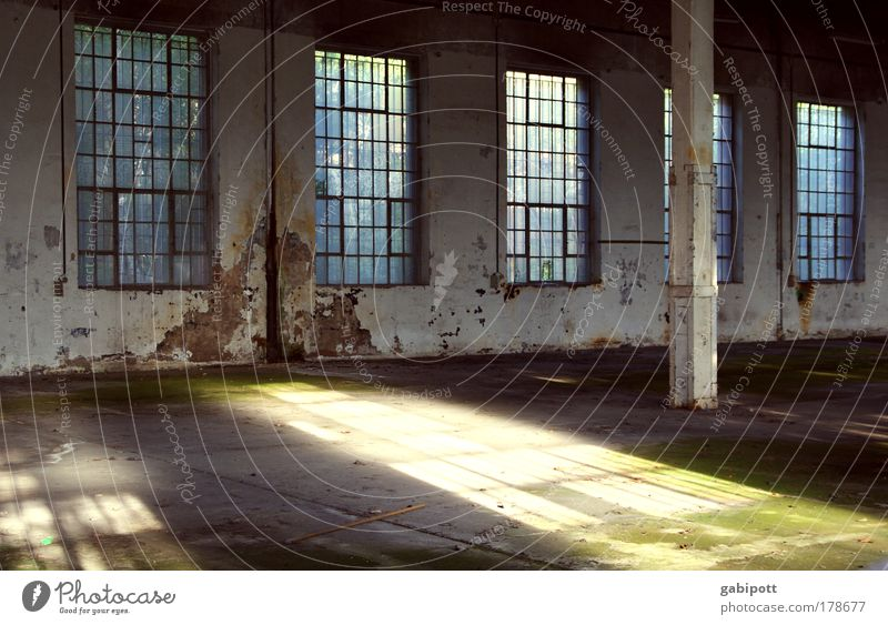 void Colour photo Interior shot Deserted Day Light (Natural Phenomenon) Sunlight Sunbeam Event Industrial plant Ruin Manmade structures Building Architecture