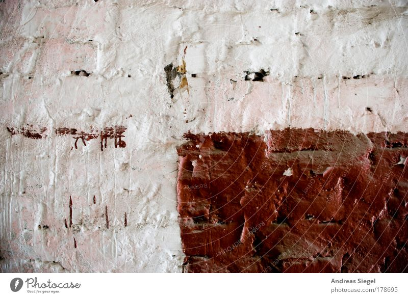 White Red Colour Wall (building) Wall (barrier) Brown Facade Patch Plaster Rectangle Paintwork