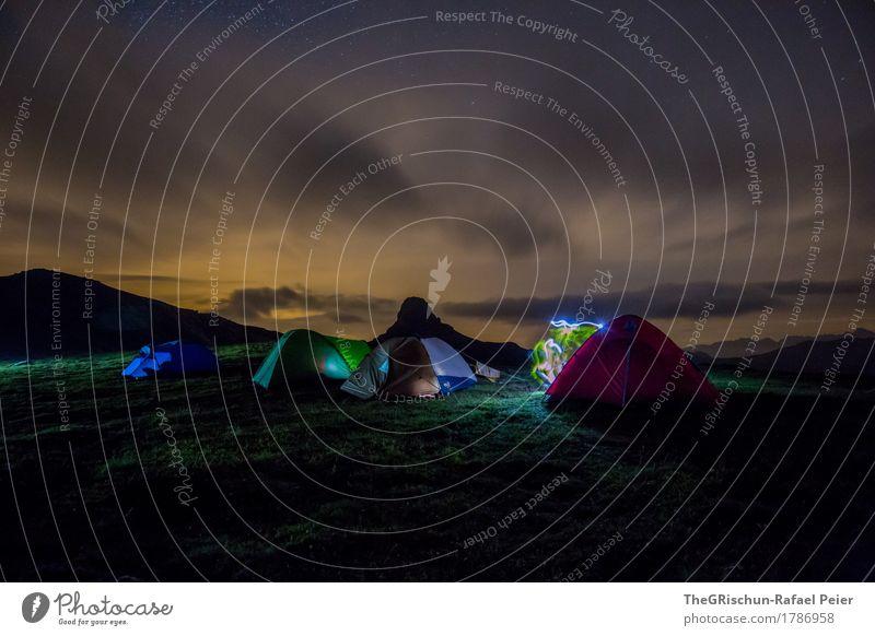 Nature Blue Clouds Black Environment Grass Movement Pink Star (Symbol) Sleep Switzerland Tent Tent camp