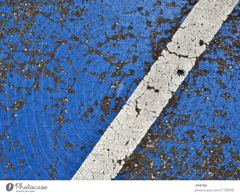 on patrol Colour photo Detail Abstract Pattern Structures and shapes Copy Space left Downward Design Transport Traffic infrastructure Parking lot Concrete