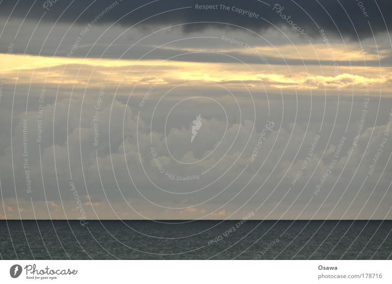 Water Sky Ocean Blue Black Clouds Dark Gray Lake Heaven Rain Landscape Weather Elements Baltic Sea North Sea