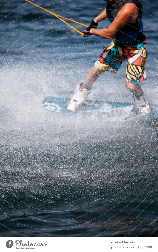AK# Water Sports II Art Esthetic Athletic Sportsperson Sports Training Sporting event Sports equipment Aquatics Surface of water Pull Force Power Movement