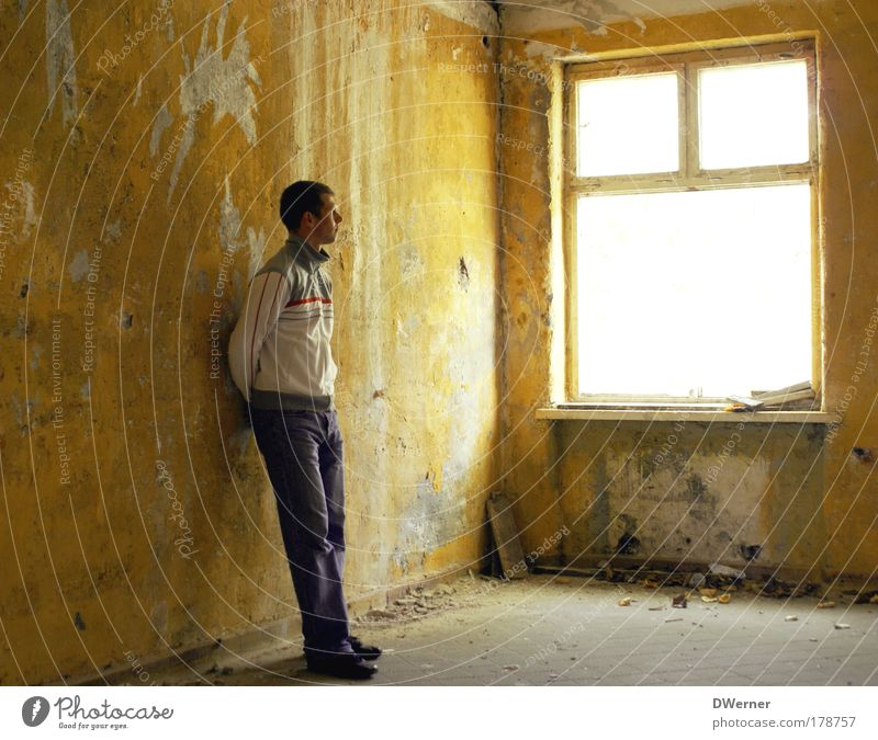 Human being Youth (Young adults) Calm Adults Far-off places Yellow Window Wall (building) Emotions Building Sadness Wall (barrier) Dream Moody Room Wait