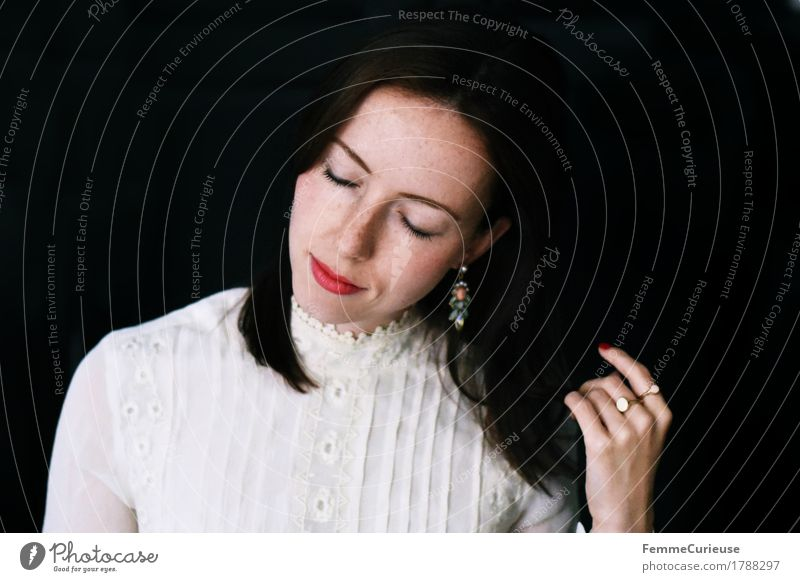 Contrast_1788297 Elegant Style Beautiful Feminine Young woman Youth (Young adults) Woman Adults Human being 18 - 30 years Contentment Esthetic Fashion