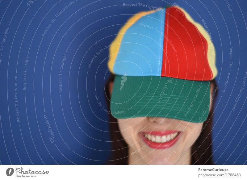 Colourful_1788453 Joy Feminine Young woman Youth (Young adults) Woman Adults Human being 18 - 30 years Creativity Optimism Power Athletic Party mood cap