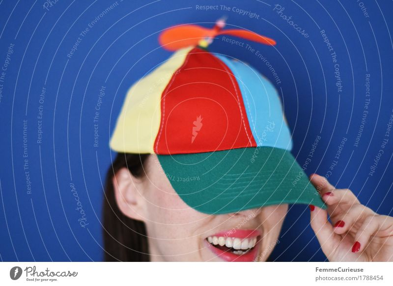 Colourful_1788454 Joy Feminine Young woman Youth (Young adults) Woman Adults Human being 18 - 30 years Happiness Cool (slang) Funny Laughter Funster Cap