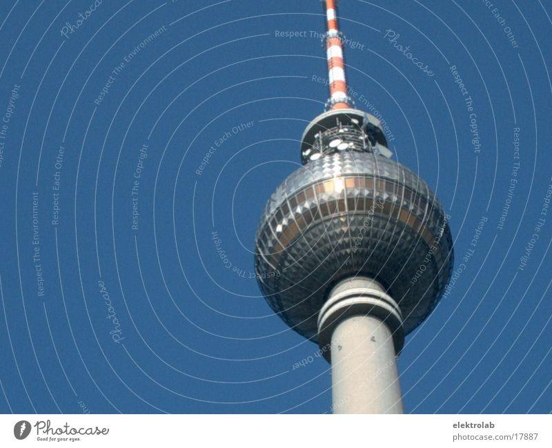 Sky Blue Berlin Architecture Glass Concrete Sphere Berlin TV Tower Alexanderplatz