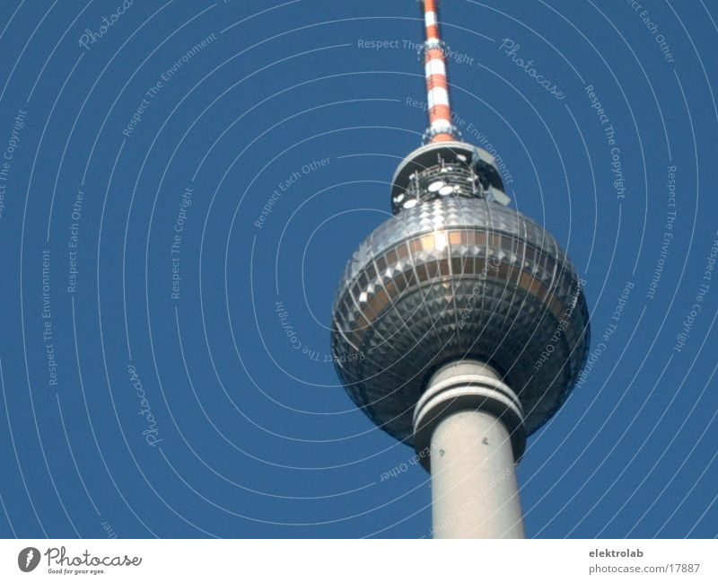 television tower Alexanderplatz Concrete Architecture Berlin TV Tower st. ulbricht telespargel Glass Sphere Blue Sky