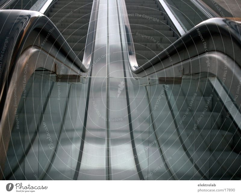 escalator Escalator Steel Rubber Potsdamer Platz Transport Glass Train station