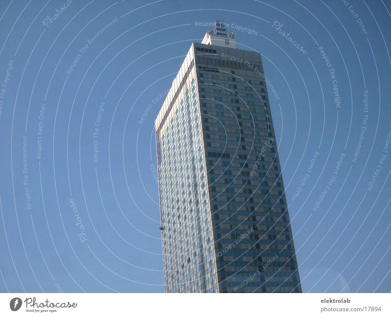 White Blue Berlin Architecture High-rise Hotel Alexanderplatz