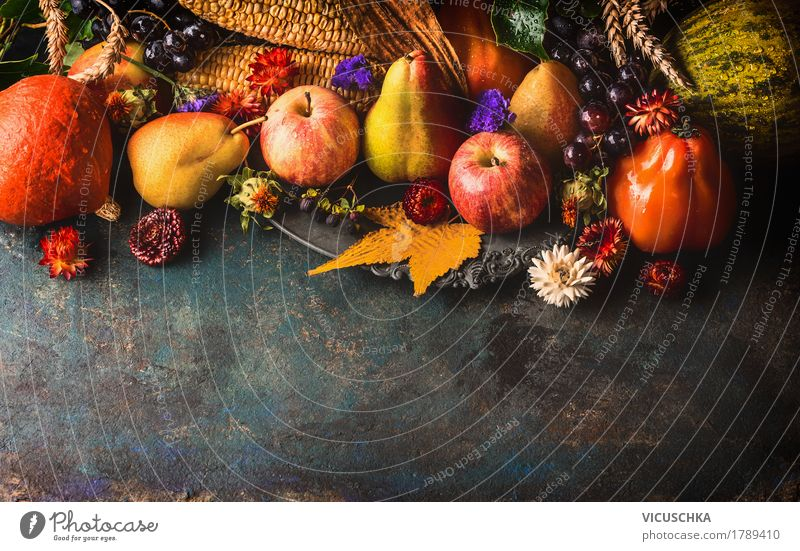 Fruit and vegetables, autumn Food Vegetable Apple Grain Nutrition Banquet Organic produce Vegetarian diet Style Design Healthy Eating Life Decoration Table