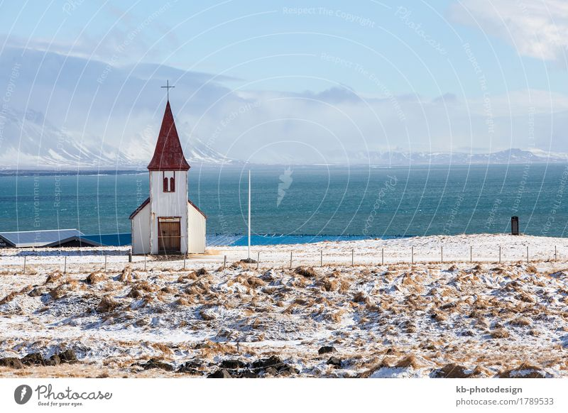 Church of Hellnar at the peninsula Snaefellsness in Iceland Vacation & Travel Tourism Adventure Far-off places Religion and faith pray village landscape view