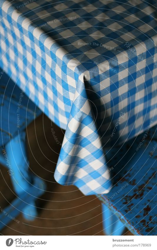 Blue Wood Flat (apartment) Table Corner Kitchen Living or residing Interior design Furniture Plastic Safety (feeling of) Checkered Throw dice Kitchen Table