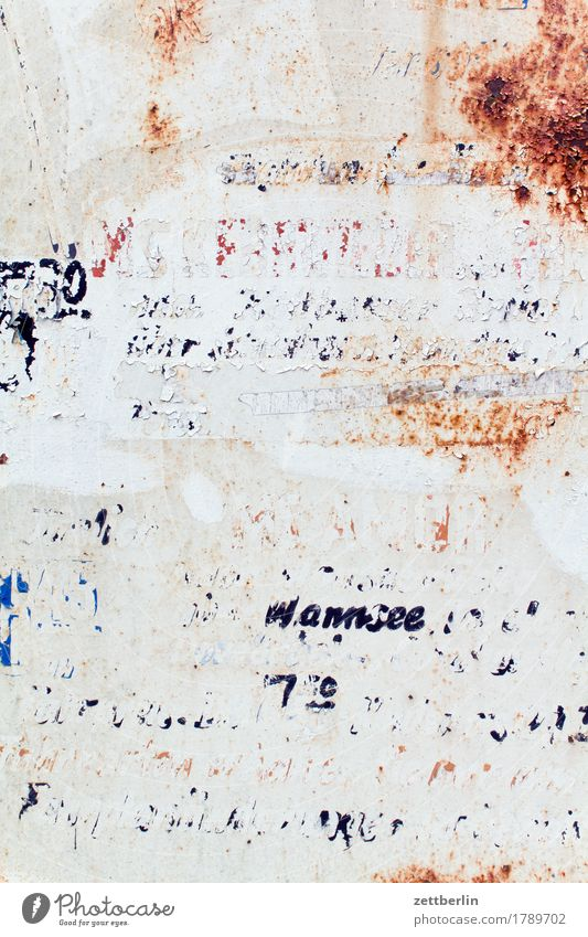 timetable Depart Ski-run Derelict Flake off Old Label Lettering Letters (alphabet) Schedule (transport) Signage Warning label Clue Information Communicate
