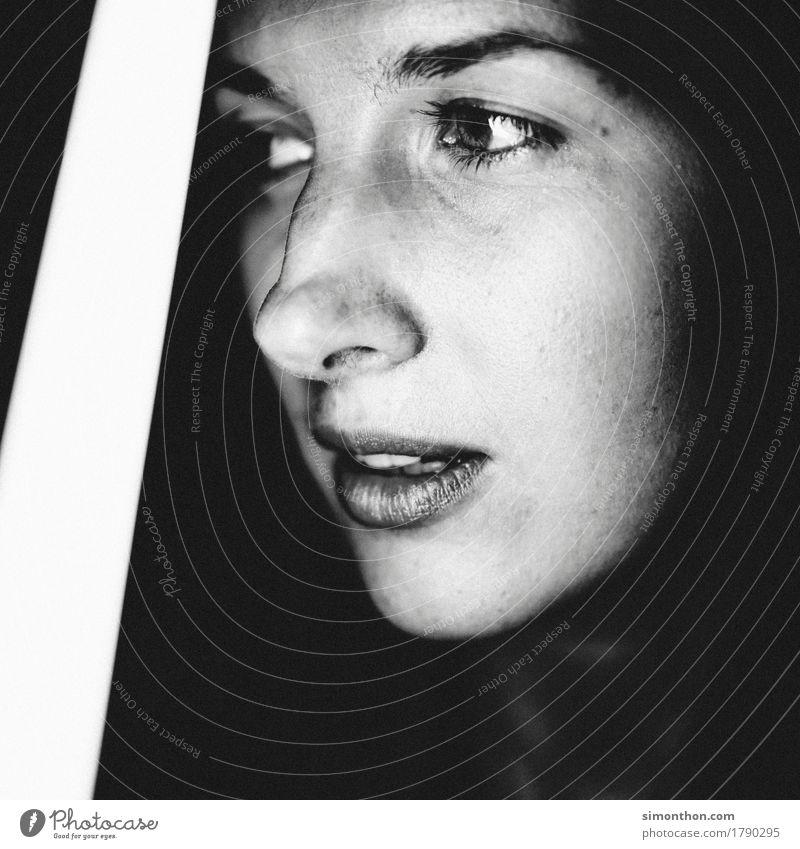 portrait Feminine Face 1 Human being Esthetic Authentic Simple Fresh Beautiful Uniqueness Boredom Dream Sadness Concern Grief Death Lovesickness Fatigue Pain