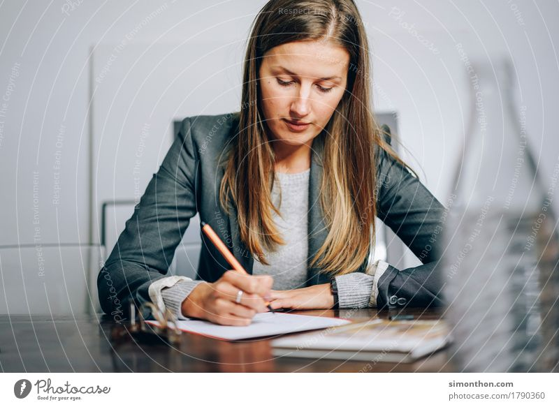 Human being Feminine Business Think Work and employment Sit Communicate Success Energy Idea Study Education Write Draw Advice Inspiration
