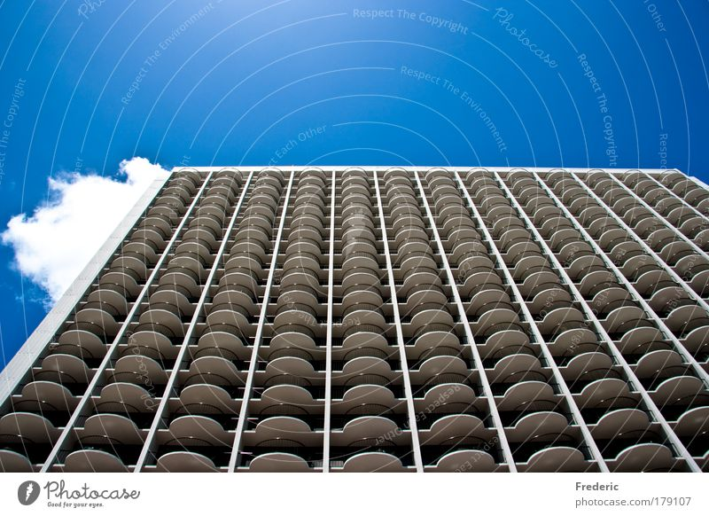 City House (Residential Structure) Wall (building) Window Wall (barrier) Building Architecture Design Large High-rise Horizon Facade Perspective Esthetic Living or residing