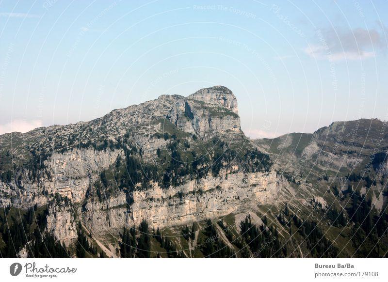 Blue Mountain Switzerland Alps Firm Peak Thun Bernese Oberland Lake Thun