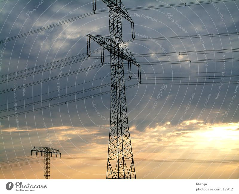 Energy Electricity Industry Energy industry power supply Sky