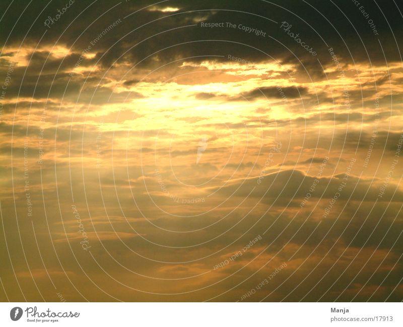 Sky over Berlin Clouds Dark Sun