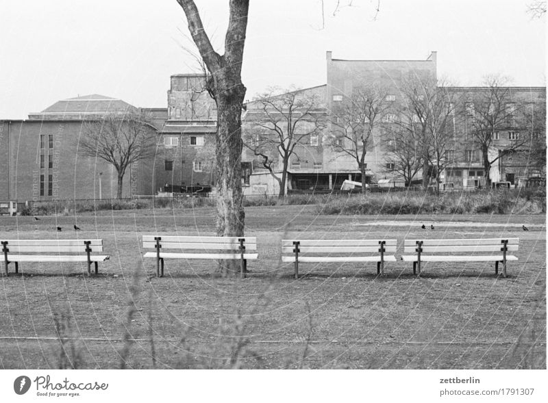 Lichtenberg, 1985 Street Deserted Gloomy Town Capital city Berlin Building Industry Industrial Photography Industrial plant Factory Black & white photo Past GDR