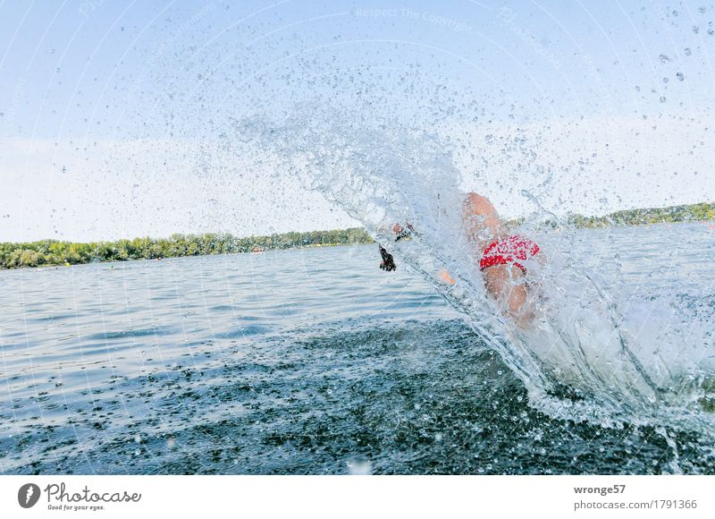Large wave Sports Sportsperson Sporting event Triathlon Swimming & Bathing Lake Human being Masculine Young man Youth (Young adults) 1 18 - 30 years Adults