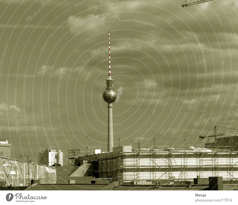 Berlin Building Architecture Construction site Berlin TV Tower