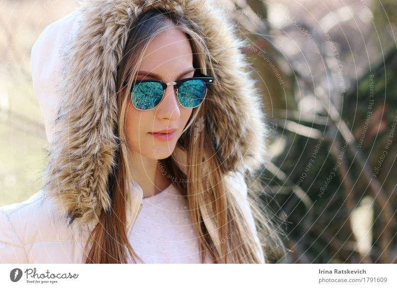 Outdoor fashion portrait Young woman Youth (Young adults) Skin Head Hair and hairstyles Lips 1 Human being 18 - 30 years Adults Nature Plant Park Fashion
