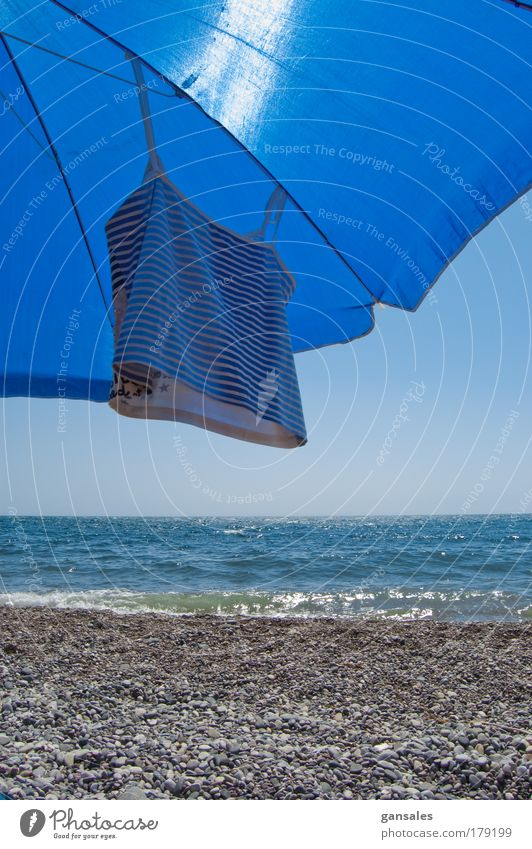 sunshade on the beach Beautiful Vacation & Travel Sun Ocean Summer Beach Joy Relaxation Coast Weather Waves Leisure and hobbies Swimming & Bathing
